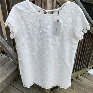 NWT Zara size M cream color cotton dress